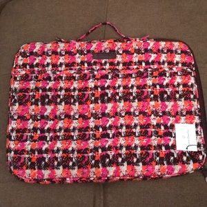 Vera Bradley Laptop Organizer Houndstooth Tweed